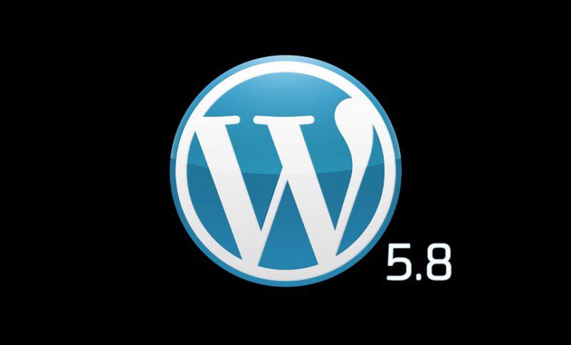 wordpress 5.8 major update