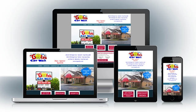 Mr. Goofy's Car Wash Website Design