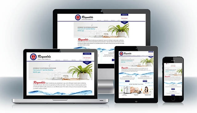 Reynolds Water Website Design