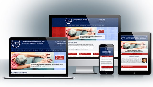 Theramaz Rehab Services Website Design