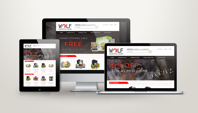 Wolf Survival Gear Website Design